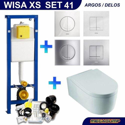 XS Toiletset 41 Wiesbaden Arco diepspoel met Argos/Delos drukplaat
