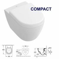UP320 Toiletset 11 V&B Subway 2.0 COMPACT Spoelrand met Sigma drukplaat