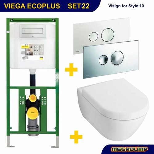 EcoPlus Toiletset 22 V&B Subway 2.0 met Visign for Style 10 drukplaat