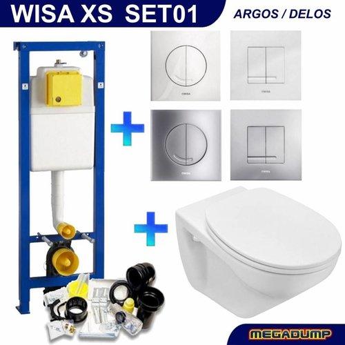 XS Toiletset 01 Basic wandcloset Softclose met Argos/Delos drukplaat