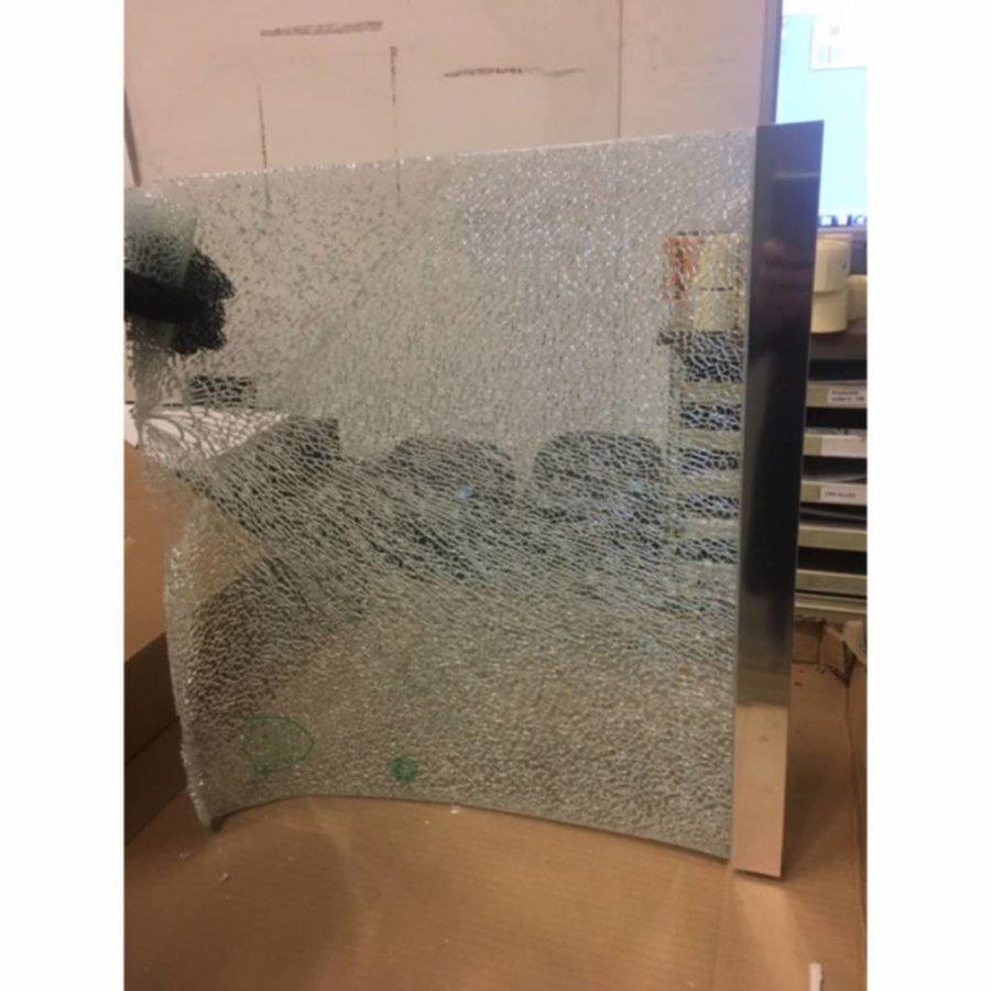 Safety Glass 2.0 Inloopdouche Met Zwart Muurprofiel 10Mm Nano Glas (Alle Maten)