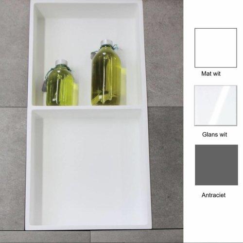 Inbouwnis 59.5x29.5x8 cm met 2 Schappen (in 3 kleuren verkrijgbaar)
