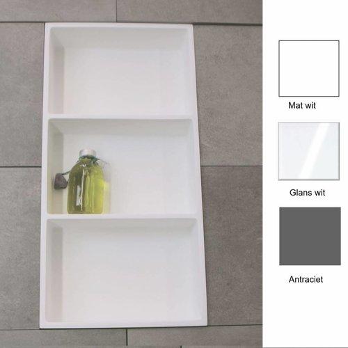 Inbouwnis 59.5x29.5x8 cm met 3 Schappen (in 3 kleuren verkrijgbaar)
