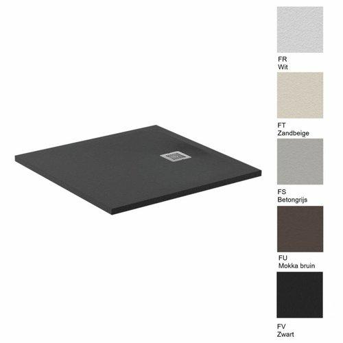 Douchebak Ultra Flat Solid Vierkant (in 3 afmetingen en 5 kleuren)