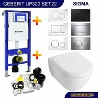 UP320 Toiletset 22 Villeroy & Boch Subway 2.0 met Sigma drukplaat