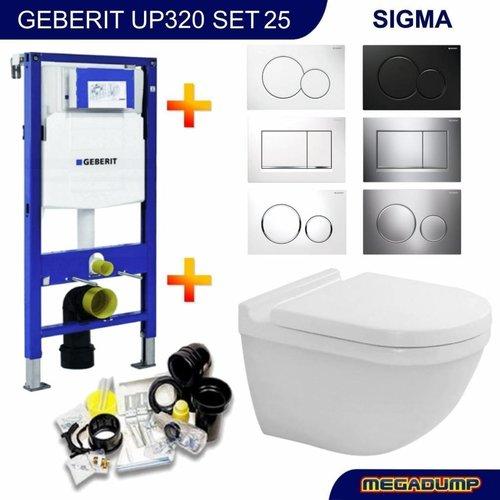 UP320 Toiletset 25 Duravit Starck 3.0 met bril en drukplaat