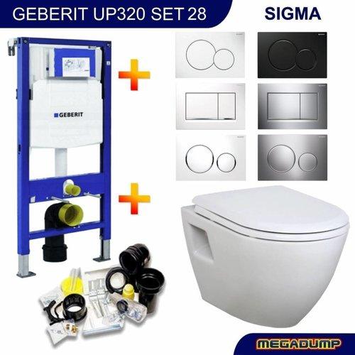 UP320 Toiletset 28 Creavit TP325 Wit met softclose zitting