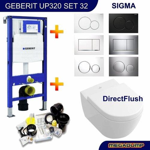 UP320 Toiletset 32 Villeroy & Boch Subway 2.0 DirectFlush met bril en drukplaat