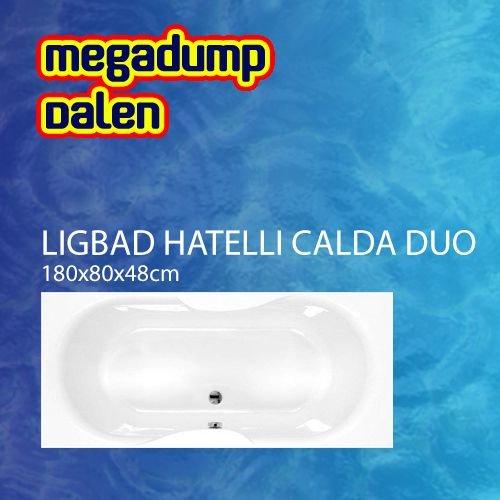 Ligbad Hatelli Calda duo 180x80x48 cm