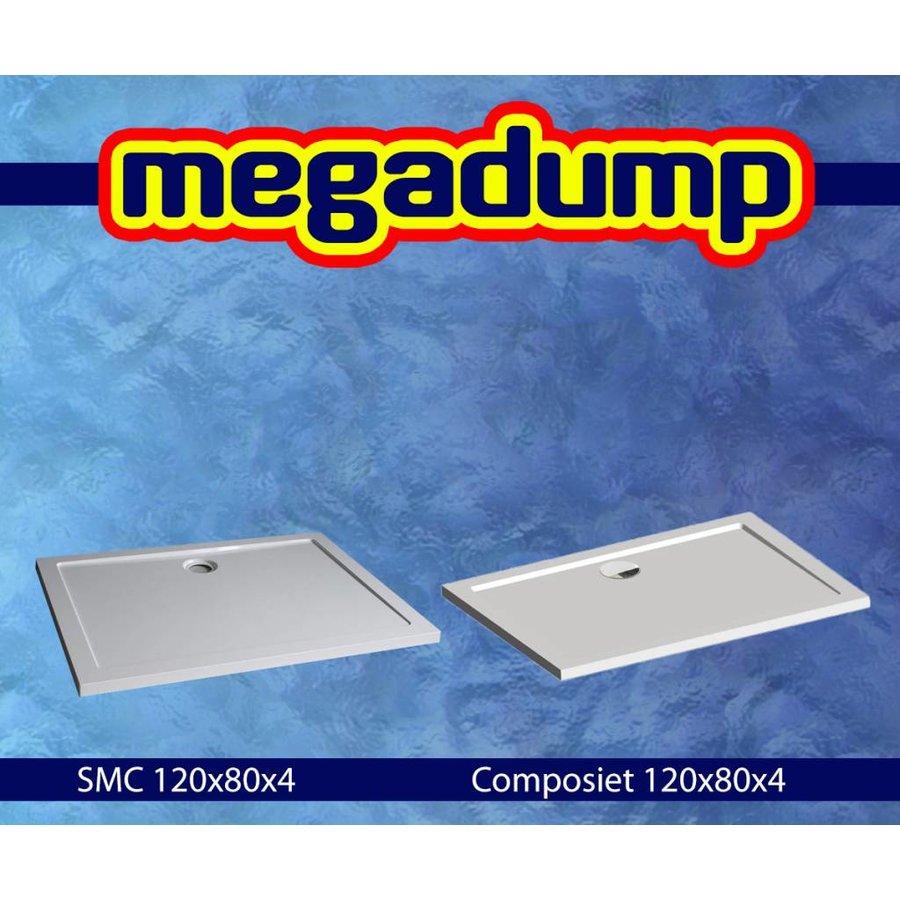 Douchecabine Quadra zijwand 80/90/100x200 cm met deur 90/100/120/140x200 cm