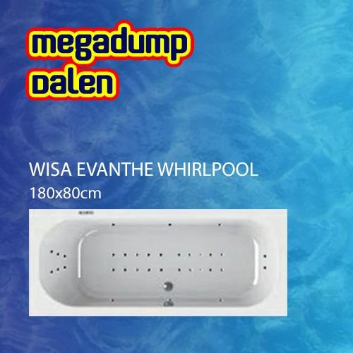 Evanthe whirlpool 180x80x60/65 cm sportpakket deluxe