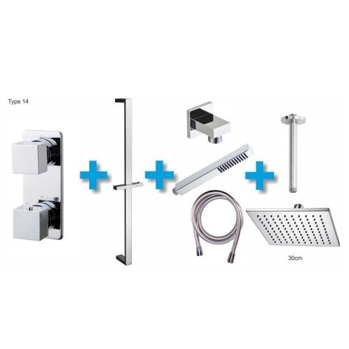 One-Pack Inbouwthermostaatset Type 14 (30Cm)