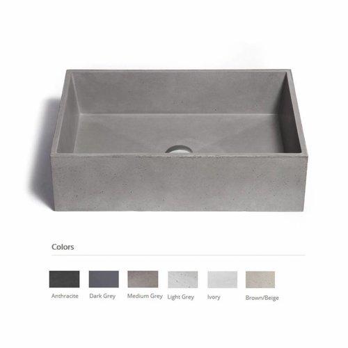 Opzet Wastafel  Immissio Beton 60x40x17 cm ( 6 Kleuren)