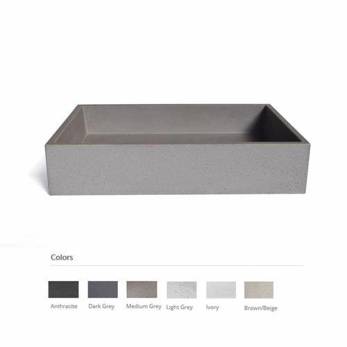 Opzet Wastafel  Immissio Beton 70x45x15 cm ( 6 Kleuren)