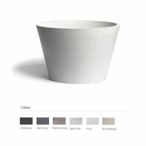 Opzet Wastafel  Circum Beton 38x26 cm ( 6 Kleuren)