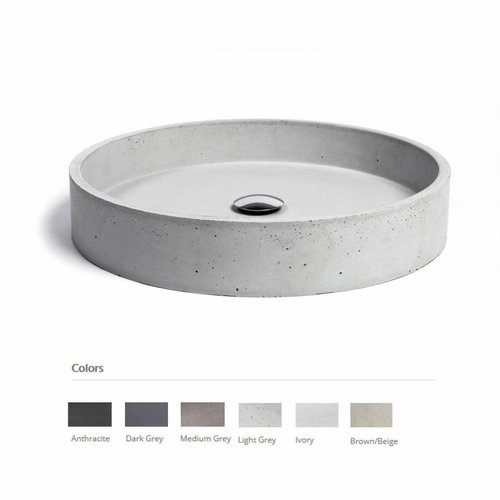 Opzet Wastafel  Circum Beton 48x10 cm (6 Kleuren)