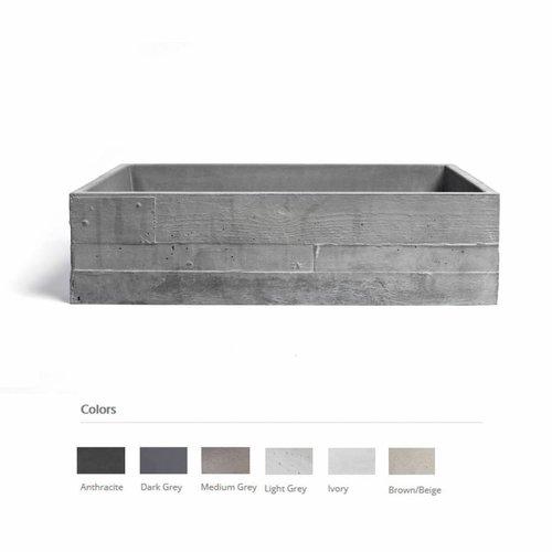 Opzet Wastafel  In Vivo Beton 58.5x38.5x16 cm (6 Kleuren)