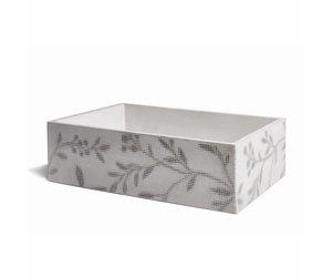 Opzet wastafel ombra beton 53x38x16 cm licht grijs met donker