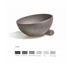 Wastafel Van Beton : Opzet wastafel obliquo beton 35x19 cm 6 kleuren megadump dalen