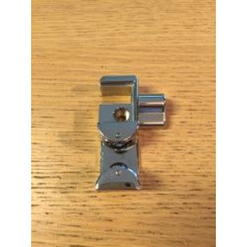 Chroom metalen deurgeleider deur links