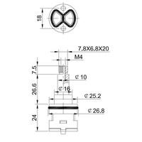 2-weg omstel-binnenwerk kort model (oa geschikt voor de opbouwsets)