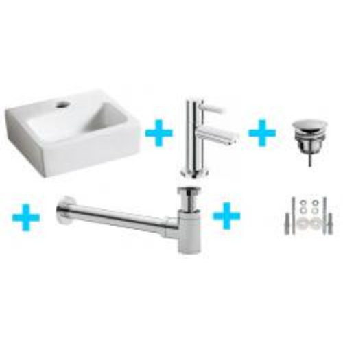 Wiesbaden one-pack Leto fontein + Amador toiletkraan chroom