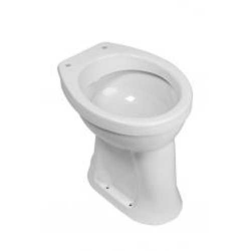 Wiesbaden staande verhoogde toiletpot +6 AO wit