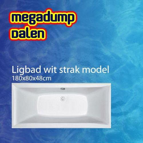 Ligbad 180x80x49 cm wit strak model Actie