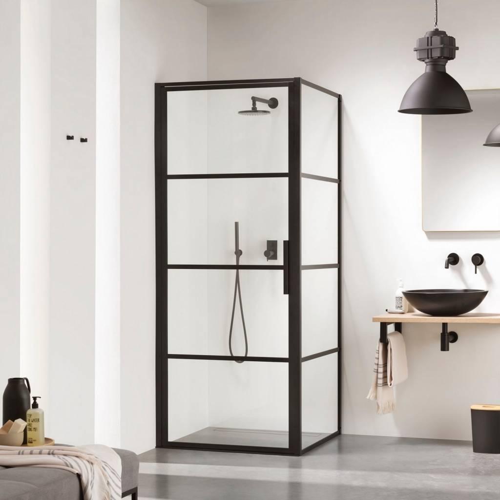 Black White Bathroom Mat