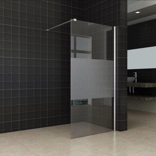 Inloopdouche Wiesbaden Slim Middenband Glas 90x200 8mm Nano Coating