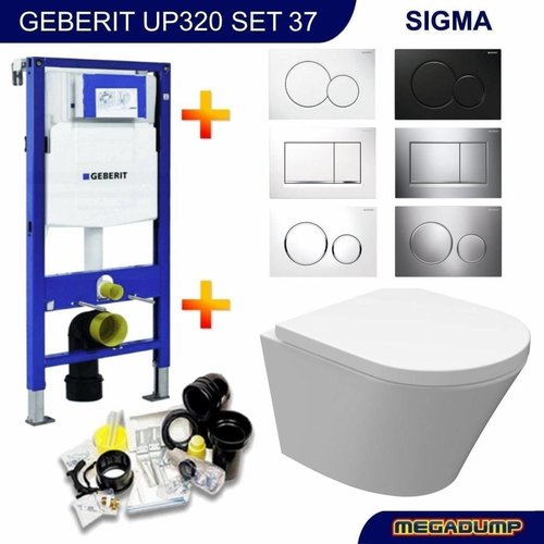 UP320 Toiletset 37 Vesta Junior Rimless 47cm Met Bril En Drukplaat