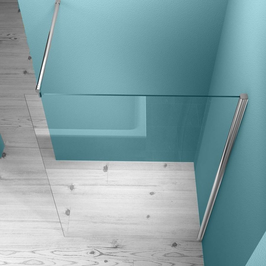 Douchewand Aqua Splash Muurprofiel Nano glas  8mm (Alle Maten)