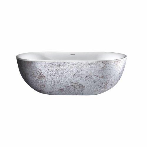 Vrijstaandbad Best Design Nicelook 180x86x60 cm Zilver