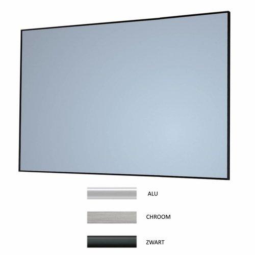 Badkamerspiegel Sanicare Q-Mirrors 65x70x2cm Zwart