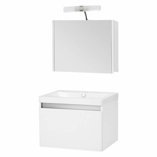 Badmeubelset Differnz Shout 60x49x45 cm Wit (Incl verlichting)