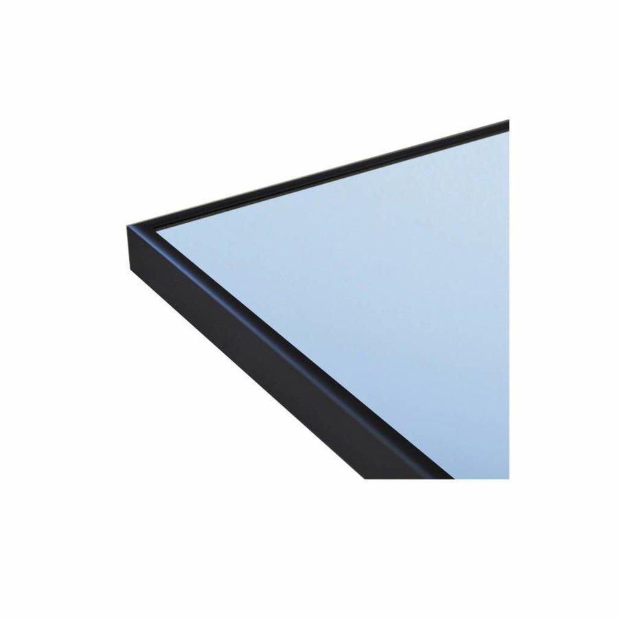 Badkamerspiegel Sanicare Q-Mirrors 'Warm White' LED-Verlichting 70x80x3,5 cm Zwarte Omlijsting