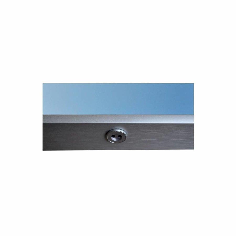 Badkamerspiegel Sanicare Q-Mirrors Ambiance en 'Cold White' LED-verlichting 70x60x3,5 Zwarte Omlijsting
