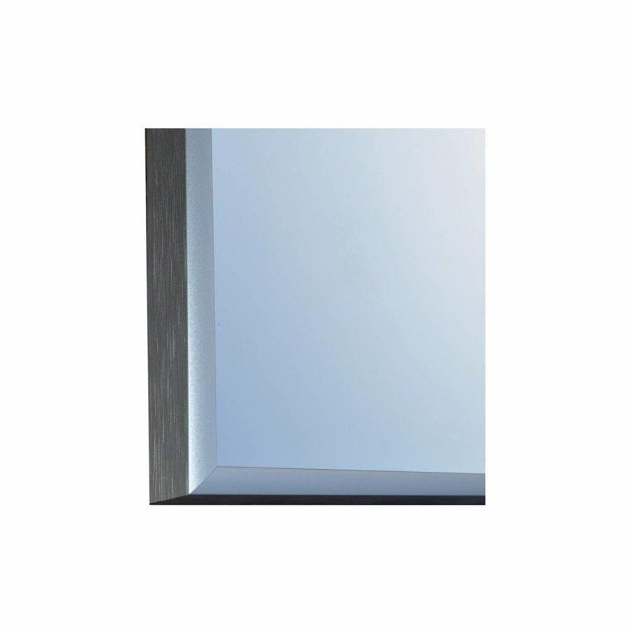Badkamerspiegel Sanicare Q-Mirrors Twee Verticale Banen 'Warm White' LED-Verlichting 70x60x3,5 cm Zwarte Omlijsting