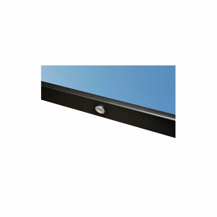 Badkamerspiegel Sanicare Q-Mirrors Twee Verticale Banen 'Cool White' LED-Verlichting 70x70x3,5 cm Zwarte Omlijsting
