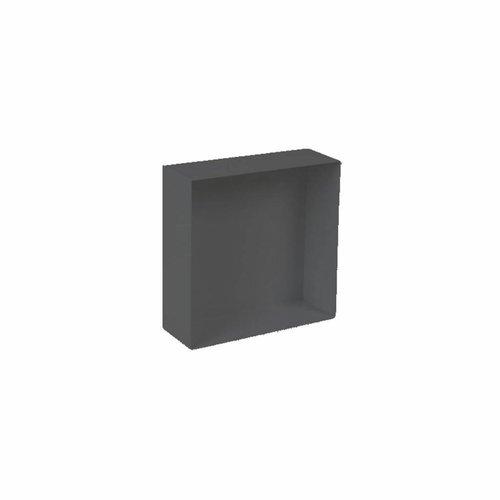 Inbouwnis Plieger Waterproof Voor In Wand 30x30 cm RVS Mat Zwart (zonder flens)