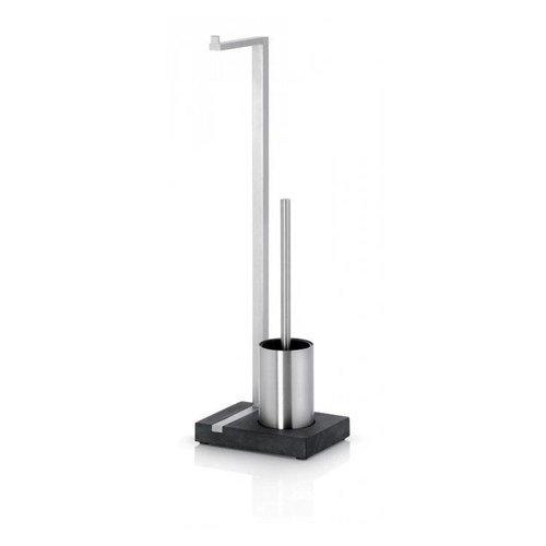 Toiletrolhouder En Borstel Blomus Menoto Design Mat RVS