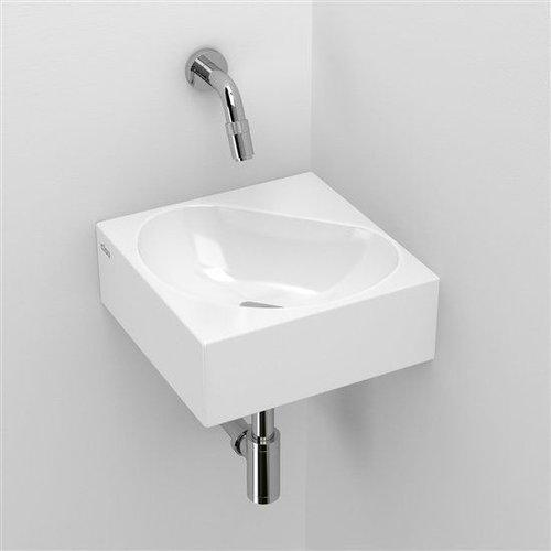 Hoekfontein Clou Flush 5 27x27x10cm Keramiek Glans Wit (Zonder Kraangat)