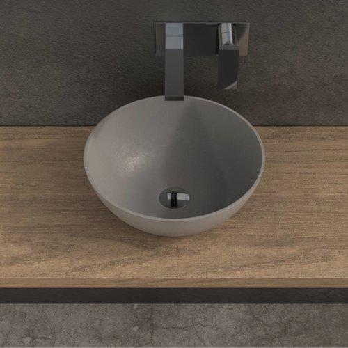 Opbouw Waskom Ideavit Solidthin 39x14,5 cm Solid Surface Mat Lichtgrijs