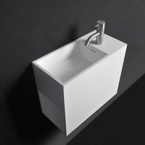 Wastafel Ideavit Solidwash 45x22x38 cm Solid Surface Mat Wit