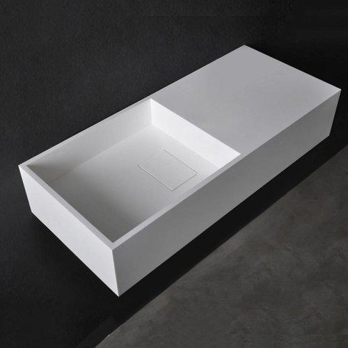 Wastafel Ideavit Solidplan 75x32,5x15 cm Solid Surface Mat Wit