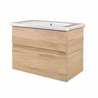 Badkamermeubel Best Design Quick-Greeploos 65x56x44cm Onderkast + Wastafel Grenen