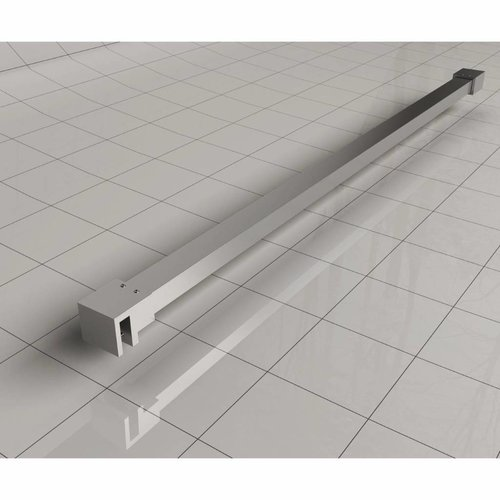 Wiesbaden Slim profielset+stabilisatiestang 120cm chroom