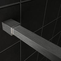 AQS Inloopdouche Pro Line Rookglas 8mm Nano Coating RVS Profiel en Stang (ALLE MATEN)