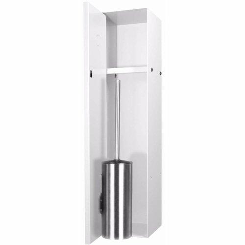 LoooX Closed Inbouw Toiletborstel Garnituur Betegelbaar 14.5x61x14 cm Wit CL8