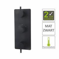 AQS Afbouwdeel Cemal Douche Thermostaat 3Weg Mat Zwart